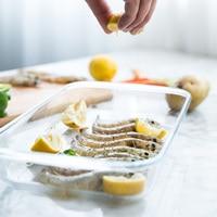 MDZF SWEETHOME Glass Baking Dish Bakeware Roasting Lasagna Pan Food Storage Containers