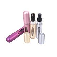 OSHIONER 5ml Refillable Mini Perfume Spray Bottle Aluminum Spray Atomizer Portable Travel Cosmetic Container Perfume Bottle