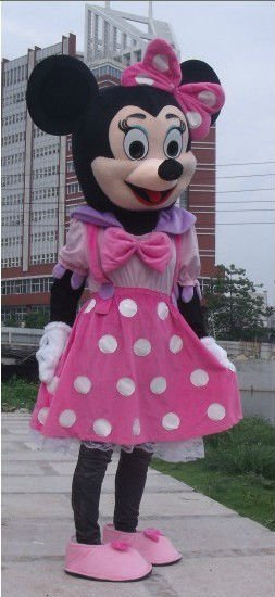 Wholesale Pink Minnie Mouse Mascot Costume Adult Size Fancy Dress