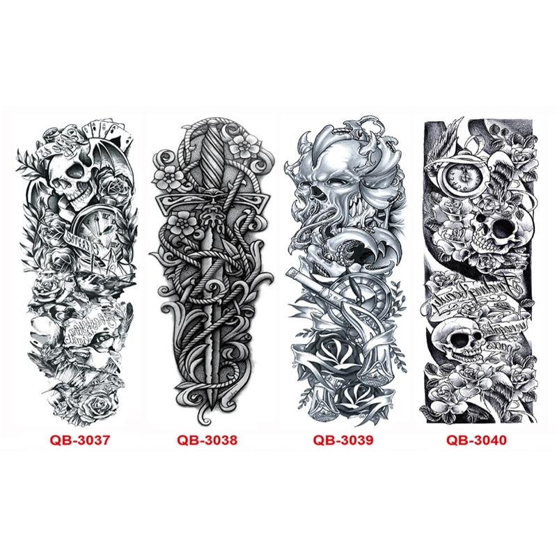 3 STKS Tijdelijke Tattoo Mouwen Volledige Arm Waterdichte Tatoeages - Tatoeage en lichaamskunst - Foto 3