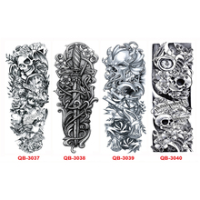 3PCS Temporary Tattoo Sleeves Full Arm Waterproof Tattoos For Men Women Transfer Tattoos Body Stickers On The Body Art Tatouages