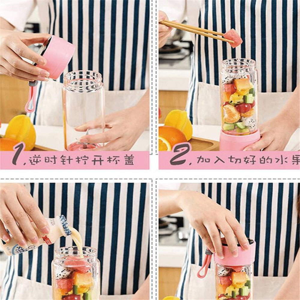 2018112302 xiangli 9 farben Tragbare mini Solide Lebensmittel obst entsafter tasse entsafter für Soja-bean Milch 68