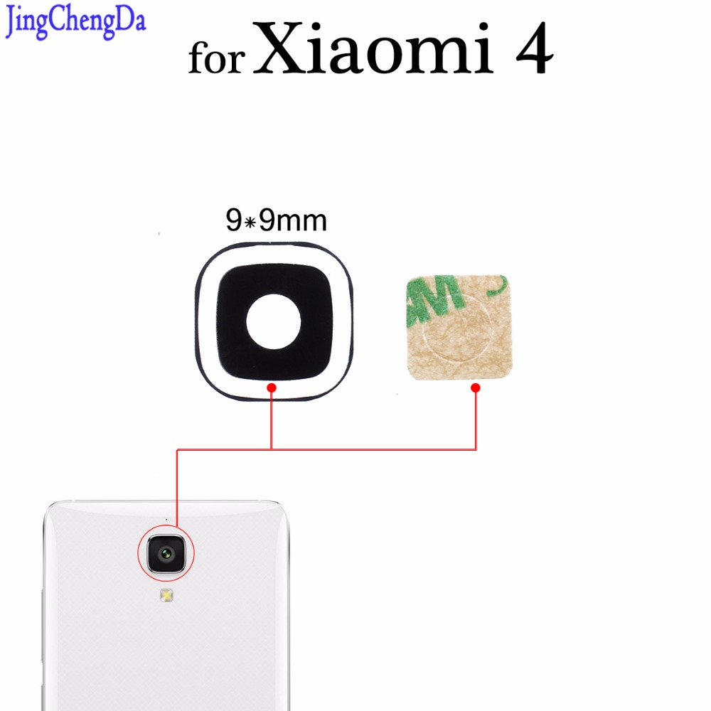 JCD 1pcs Glass Lens For Xiaomi Mi4 Mi 4 Rear Back Camera Glass Lens Cover Replacement Phone Repair Spare Parts