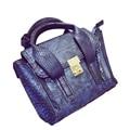 De piel de serpiente bolsos de las mujeres famosas marcas de diseño de alta calidad mujeres bolsos del mensajero 2016 bolsos de mujer sac a principal