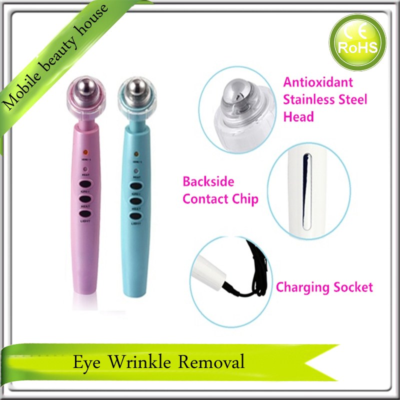 Rechargeable Photon Galvanic Ionic Microcurrent Infrared Heat Therapy Eye Wrinkle Bag Care Skin Lifting Beauty Massager Pen photon led light therapy galvanic microcurrent ultrasonic waves skin care acne wrinkle treatment beauty massager