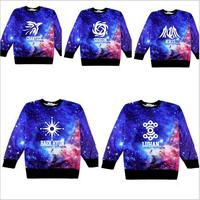 Kpop Sky EXO Same Paragraph Sweatshirts Deer Han Logo2015 Korean Harajuku Style Star Sleeved Sweatshirts Hedging