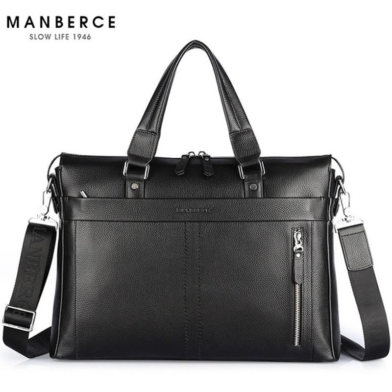 JOYIR Business Briefcase Genuine Leather Men Bag Computer Laptop Handbag Man Shoulder Bag Messenger Bags Men