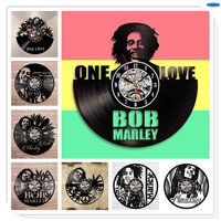 Bob Marley Black Vinyl 3D Wall   Clocks   Quartz   Clock   Decor Crafts Home Decoration Accessories
