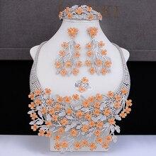 GODKI Große Luxus Plum blossom Afrikanische Cubic Zirkon CZ Nigerian Schmuck sets Für Frauen Hochzeit Indischen Perlen Braut Schmuck Sets