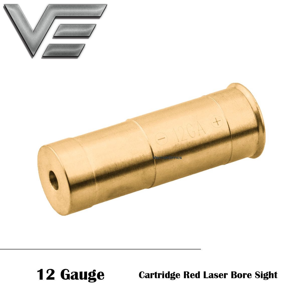 Vector Optics 12 Gauge Cartridge Red Laser Bore Sight Tactical Accuracy Laser Boresighter AG13 Battery For Rifle Air Accessories
