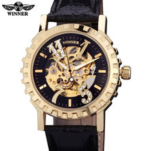 2016 watches men luxury brand winner military sports skeleton automatic mechanical wristwatches leather strap relogio masculino