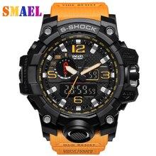 Superior de lujo Marca de fábrica G Estilo Moda hombres Deportes Reloj de Pulsera Digital LED Reloj Militar Del Relogio masculino Pantalla Dual Relojes Deportivos