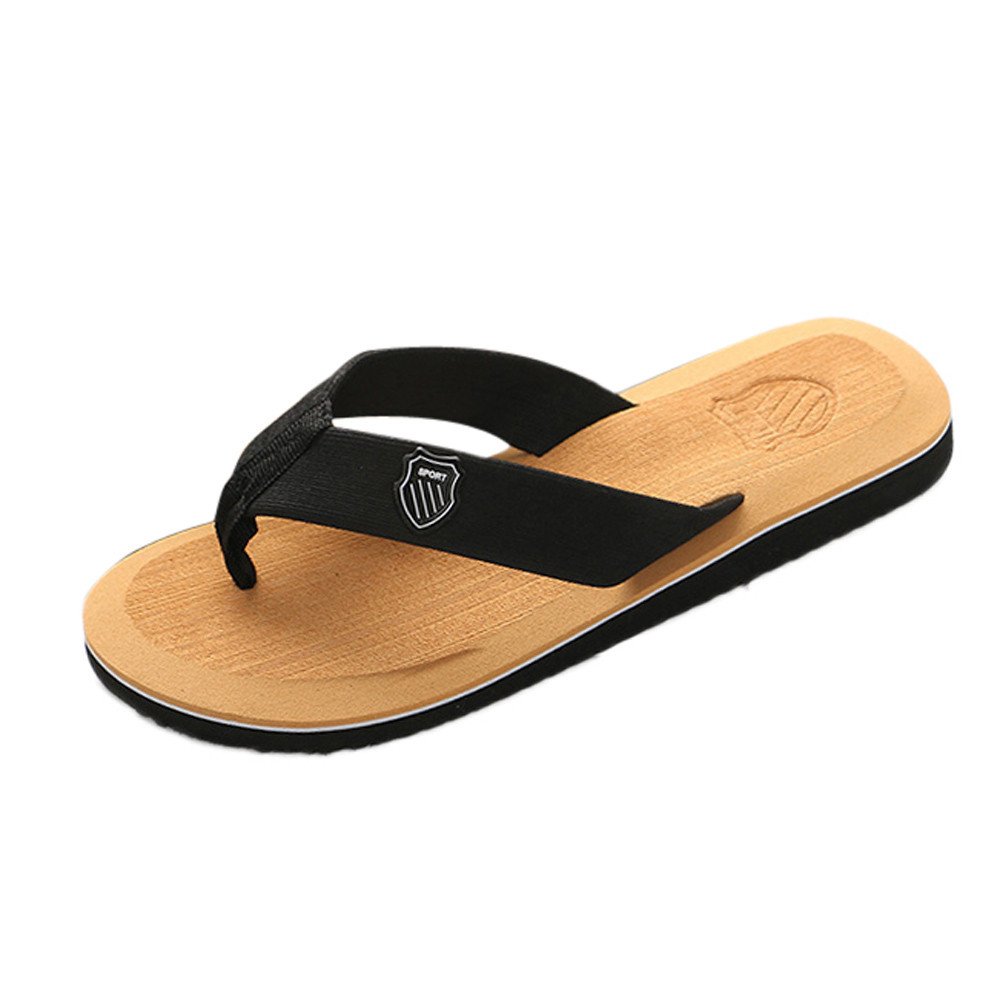 Домашние и уличные мужские тапочки; Летние вьетнамки; мужские тапочки; модная пляжная Повседневная обувь; тапочки; мужские шлепанцы - Цвет: F