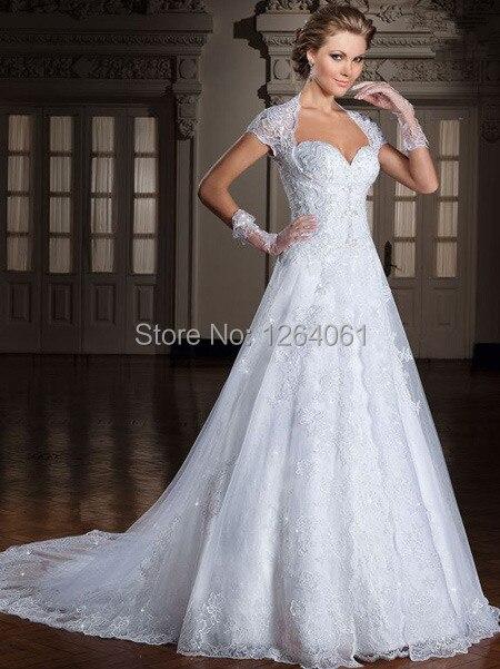 7ce75061aa2c1 Glamour brasileño Vestidos De boda con largo chal capa Apliques De encaje  vestido De novia De