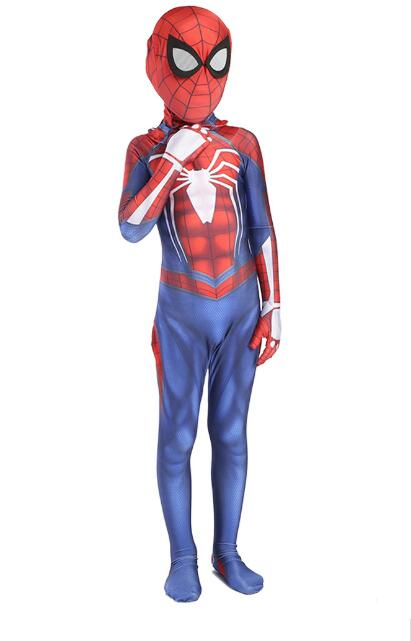 2018 Free shipping Avengers COS Spiderman PS4 Cosplay Costume Anime Full Bodysuit for Halloween party for kids and adult