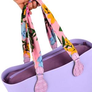 Image 5 - 2019 新 1 ペアソフト花生地ハンドルとパッチワークドロップエンド用oバッグeva obag用ハンドルハンドバッグ女性のバッグ