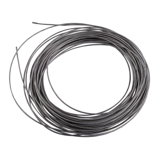 1pc 15 Meters 304 Stainless Steel Cable Wire Rope Diameter 1.5mm-in ...