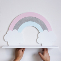 Rainbow Shelf Wall Partition Wall Decoration Storage Wall Hanging Photography Props Report c