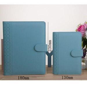Image 2 - Neue Macaron Hohl Pu leder Spirale Notebooks Schreibwaren, Feine Person Agenda Organizer/binder Tagebuch Wochenplaner Filofax A5 A6
