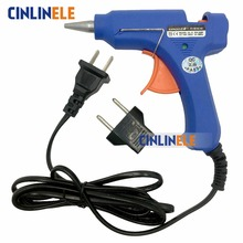 High Temp Heater Melt Hot Glue Gun 20W Repair Tool Heat Gun Blue Mini Gun With Trigger + EU Conversion plug Melt Hot Glue 0.7mm