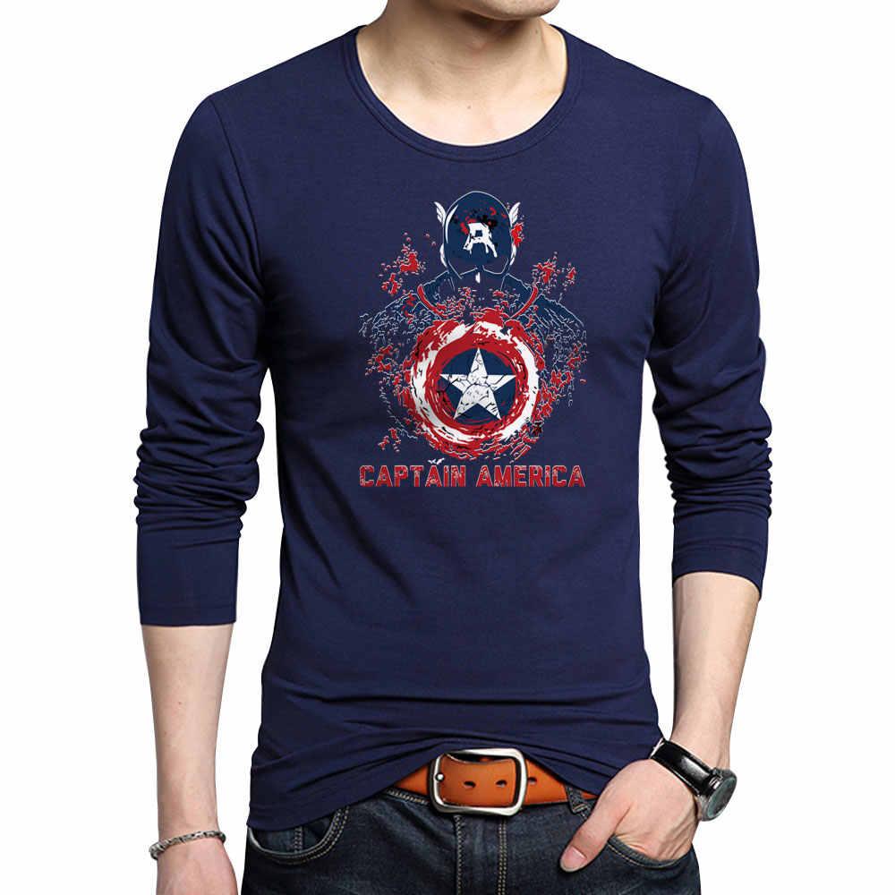 uk availability 35a35 4c2fd Captain America Printed T-Shirts New Mens Fitness Cotton Tshirt Fashion  Superhero Superman Printing Anime