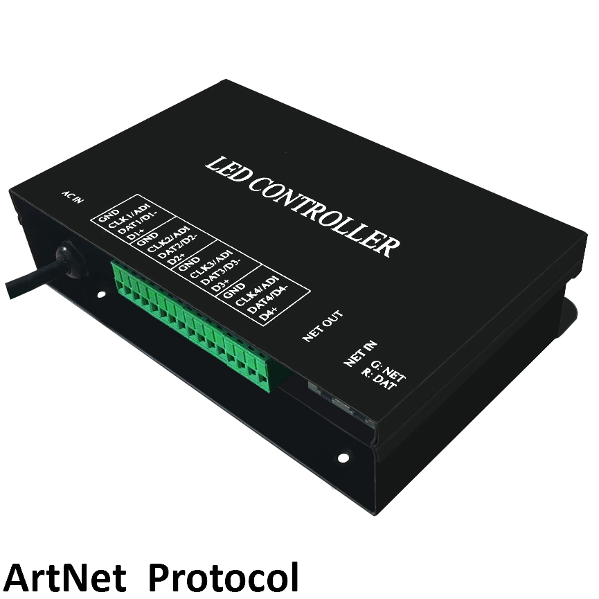 artnet controller 4 universes 512 channels per universe support MADRIX Jinx!,etc.can set address for DMX512 chips presidential nominee will address a gathering