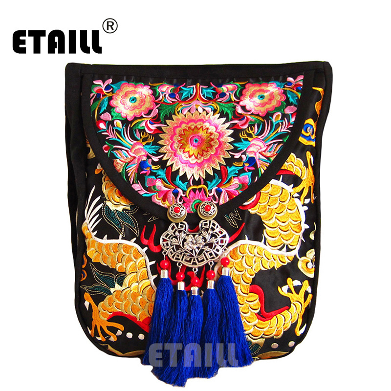 2016 National Trend Handmade Fabric Embroidery Ethnic Vintage Embroidered Bags Shoulder Messenger Bag Sac Femme Bordado Bolsa national chinese style bags embroidery flowers handbags ethnic canvas handmade tote women s handbags sac a dos femme