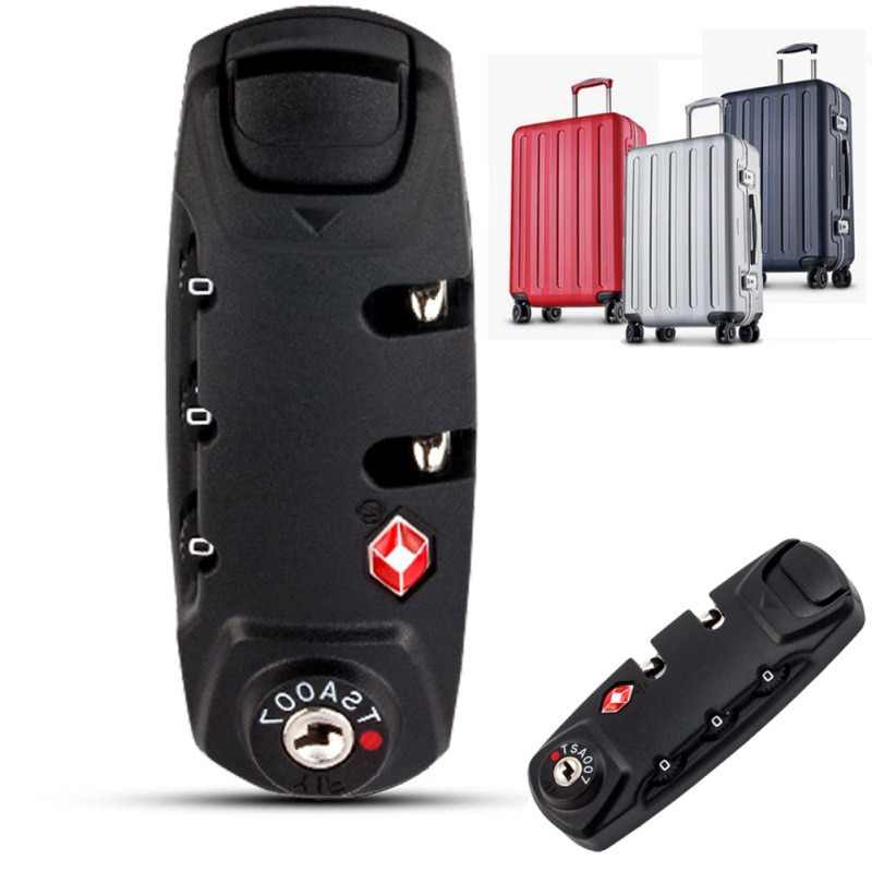Security 3 Digit Combination Padlock Safe Box Lock Luggage Suitcase Travel Bag Code Lock Black Handbag Zipper Combination Lock