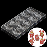 Christmas Supplies Plastic Chocolate Molds Kitchen Equipment Chocolate Making Tools Polycarbonate Chocolate Moulds