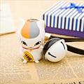 New Cute Cartoon Natsume Yuujinchou teacher cat (nyanko sensei) key chain bag chain DIY wholesale Rotatable head