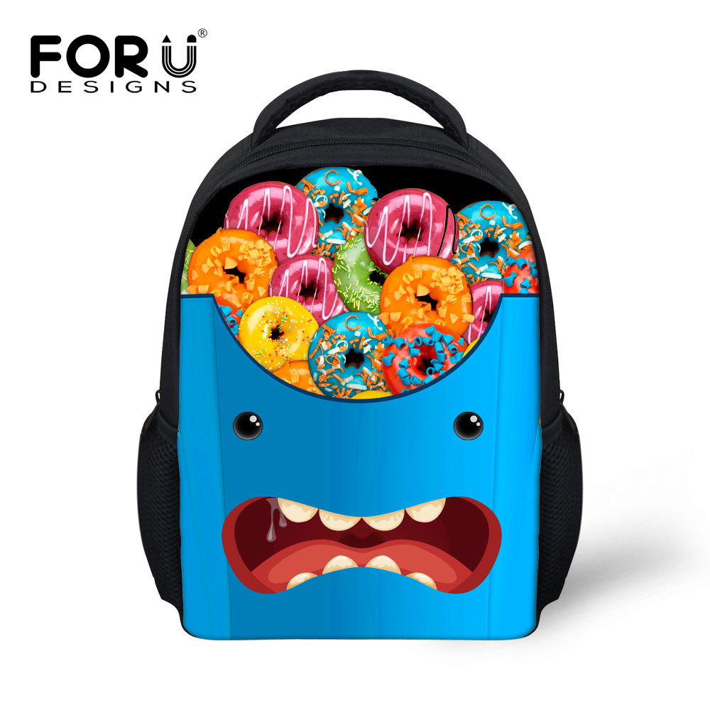 Funny French Fries Printing School Bags for Boys Girls Cute Emoji ...