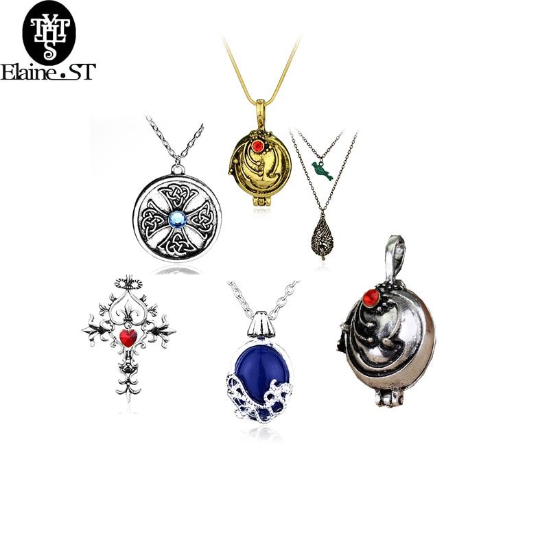 The Vampire Diaries Elena Katherine Blue Stone Elegant Pendant Necklace