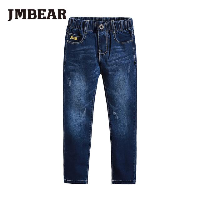 Jmbear niños pantalones vaqueros de los muchachos/de las muchachas pantalones largos pantalones de jean de mezclilla para niños ropa pantalón casual para el otoño