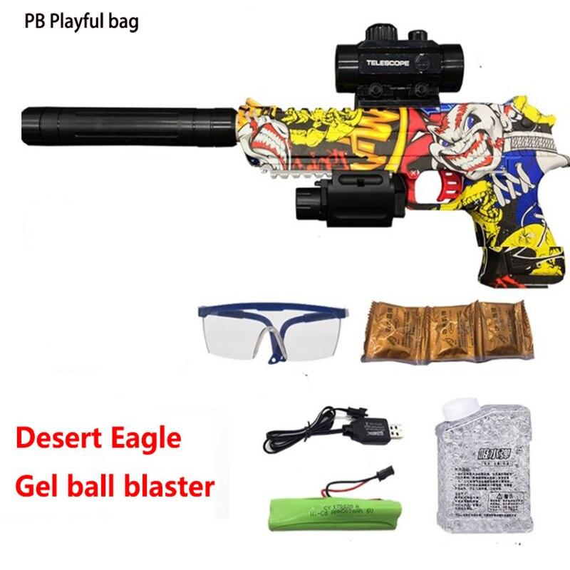 PB Playful ba intellige Children's toys electric graffiti desert eagle water pistol toy pistol soft gun toy gun model best gift цена