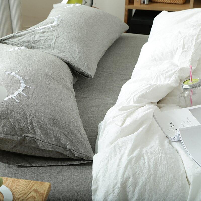 10dd3e7bba ... 100% Cotton Comfortable Bedding Sets High Quality Fashion Eyelash  Pattern Queen King Bed Sheet Duvet ...