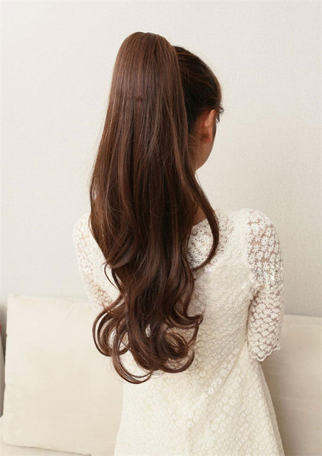 Fashion-synthetic-light-brown-claw-hair-