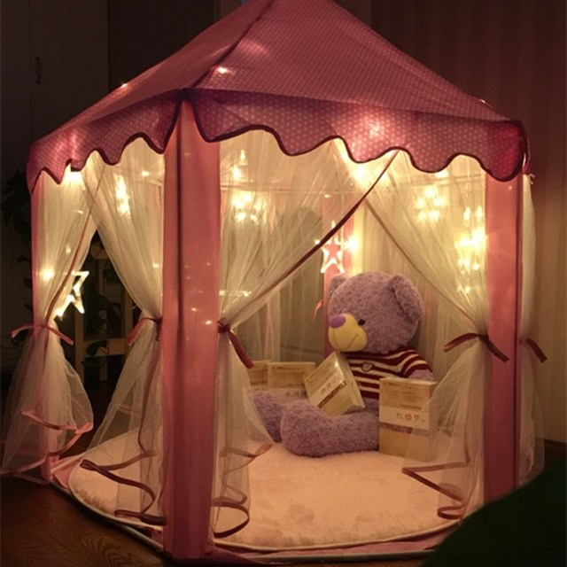 Lovely Girls Pink Princess Castle Cute Playhouse Children Kids Play Tent Outdoor Toys Tent For Children & Lovely Girls Pink Princess Castle Cute Playhouse Children Kids ...