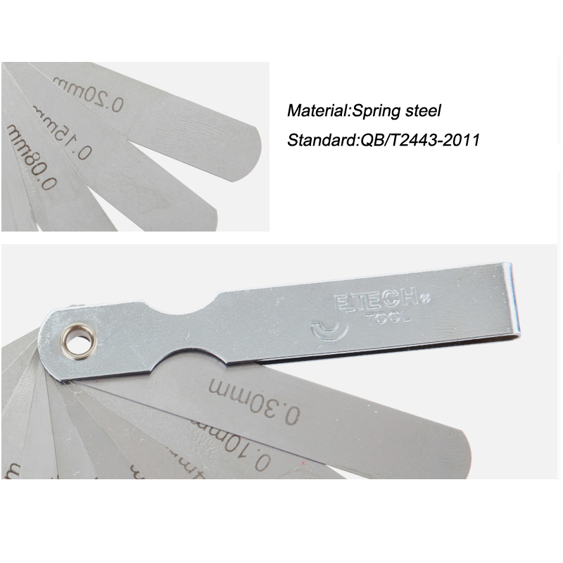 Jetech tool 9 blades spring stainless steel master feeler gauges set ...