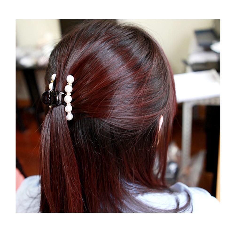 HTB1gLxUNXXXXXbnXVXXq6xXFXXXj Elegant Rhinestone Crystals And Faux Pearl Hair Clamp For Women - 5 Styles