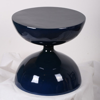 The Hourglass Designed Fiberglass End Table