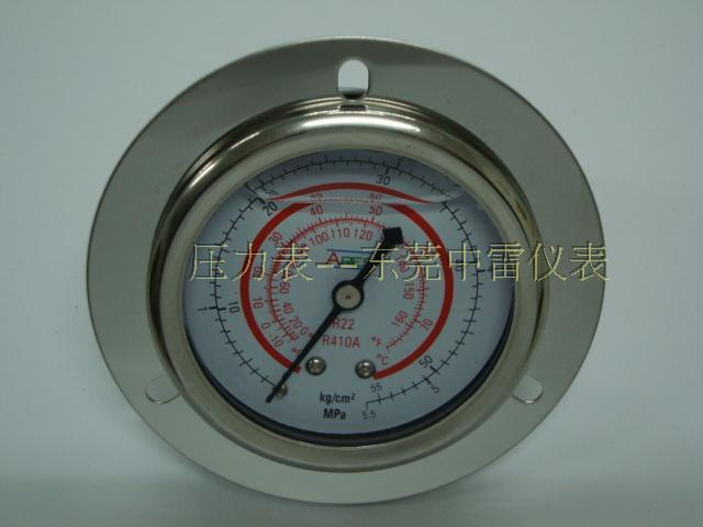US $88 9 |60MM back 5 5MPA refrigerant R22 / R410A silicone oil pressure  gauge / Freon Table 7 / 16UNF teeth-in Instrument Parts & Accessories from
