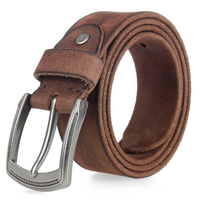 567 New Fashion Apparel Accessories casual Denim Cowhide Leather Belt Men's Trousers Belt