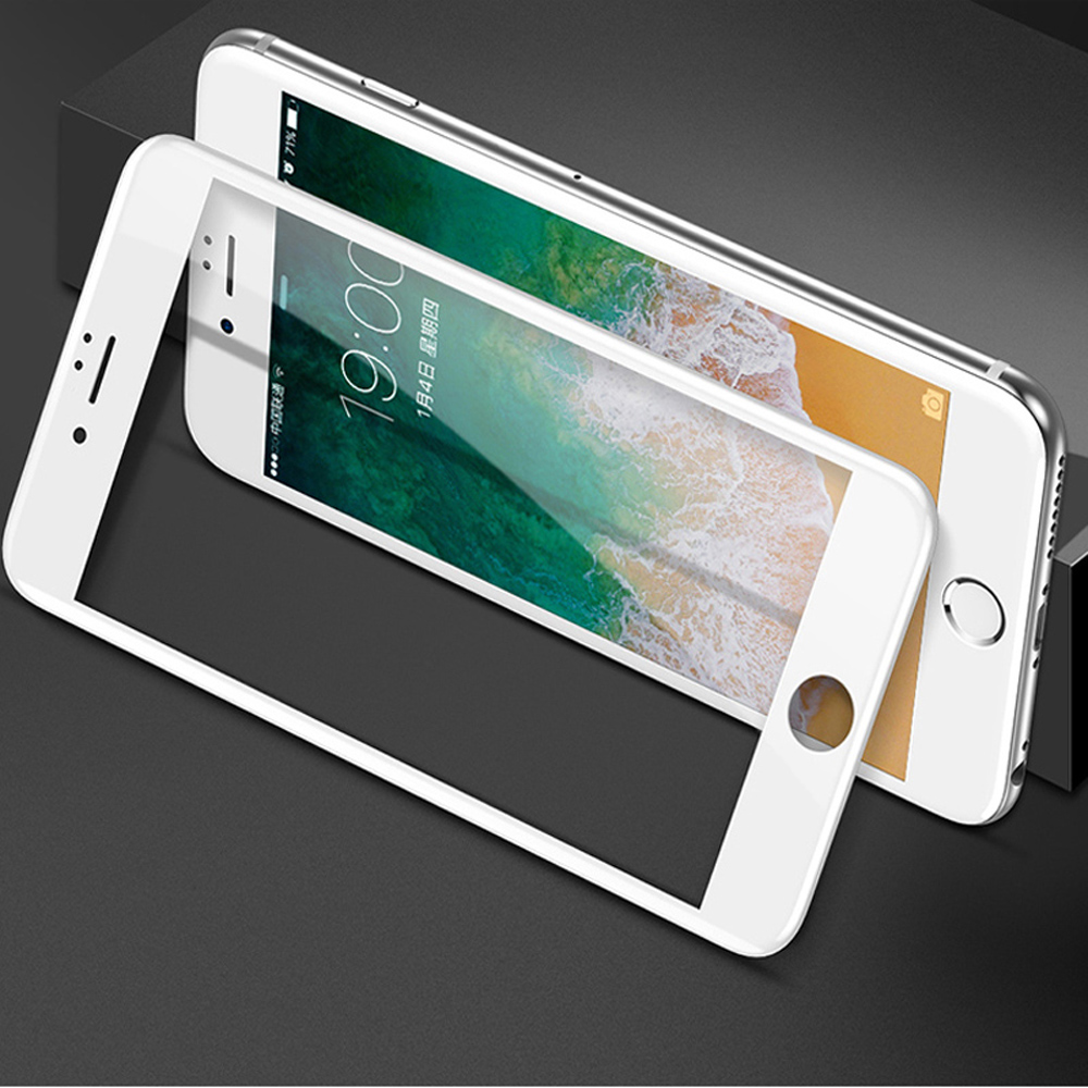New 7D Screen Protector Curved Edge Full Cover Protective Glass For iphone X 8 7 6 Plus 9H Protective Glass white black Film  (14)