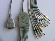 GE mac 500/1200 цельный 10ld ЭКГ кабель