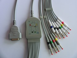 GE mac 500/1200  One-piece 10ld ecg cable