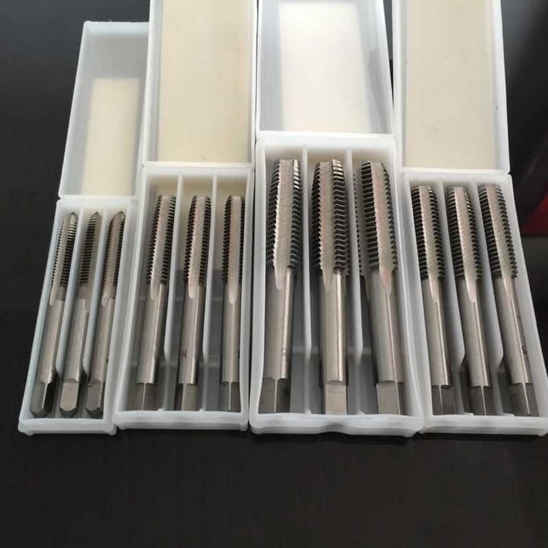 3 Teile/los M3/m4 M5/m6/m8 Hss Rechtsgewinde Tap Gewindebohrer Metrische Stecker Hand Tippen Handwerkzeuge Tap & Sterben
