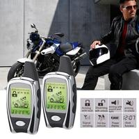 Motorcycle Alarm System Motorbike 2 Way LED Alarm Theft Protection Long Range Distance Remote Engine Start