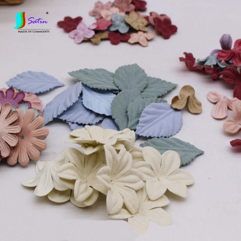 Flower Cloth Material Clothing Bottle Kindergarten Material Cute Leaf Accessories A0086f In Short Supply Handmade Diy Decorative Embossing Home & Garden