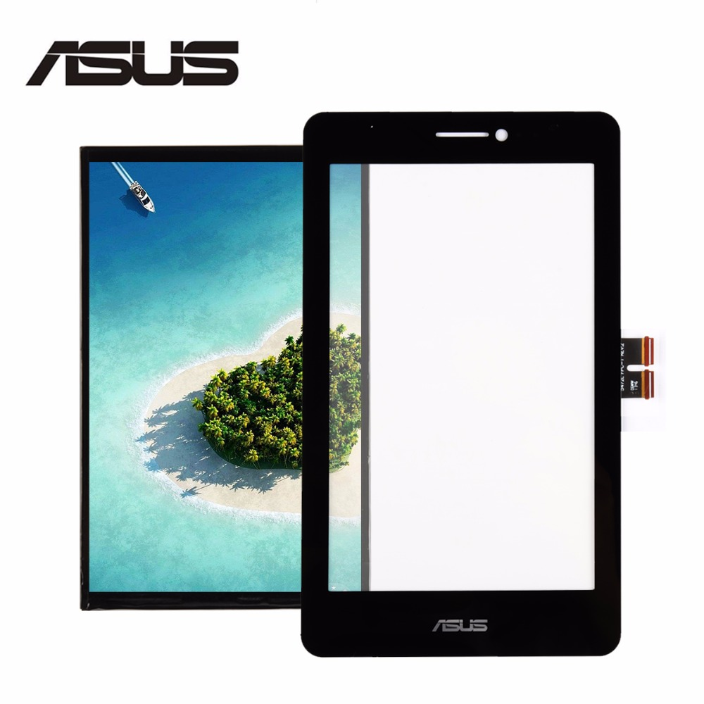 For Asus Fonepad 7 ME175 ME175CG Black Digitizer Touch Screen Glass Sensor + LCD Display Panel Screen Monitor Replacement goldleaf brazilian jerry curl virgin hair 4pcs lot unprocessed 6a jerry curly brazilian hair 100% brazilian jerry curl weft