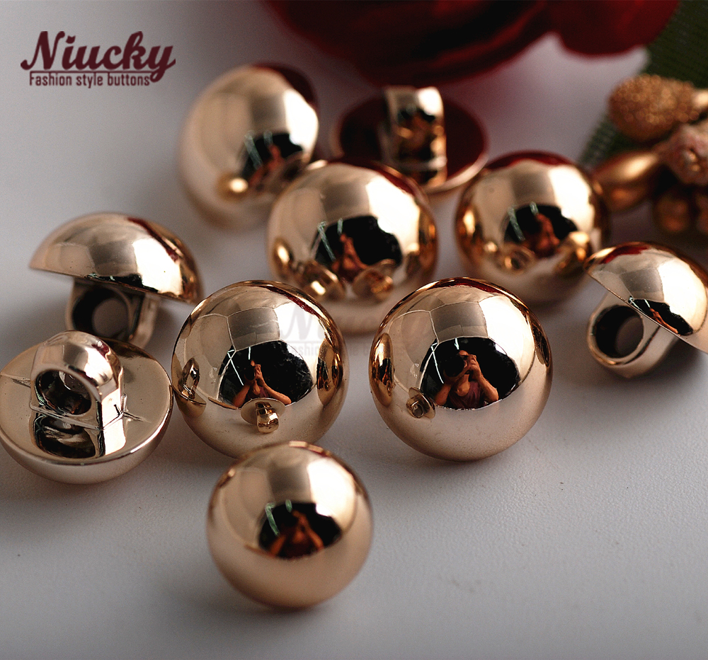 Niucky 11mm/ 10mm Gold / Silver shank Baldheaded sewing buttons for shirt High quality basic fashion clothing material P0301-038